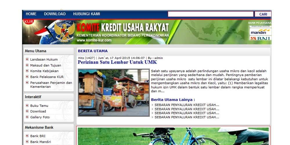 Kredit Usaha Rakyat (KUR)